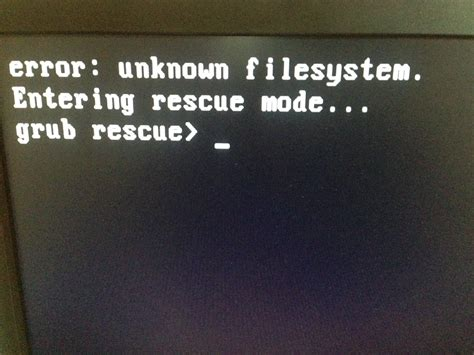 [solved] Unknown file system, grub rescue - Support - OMA ... Unknowns Forum