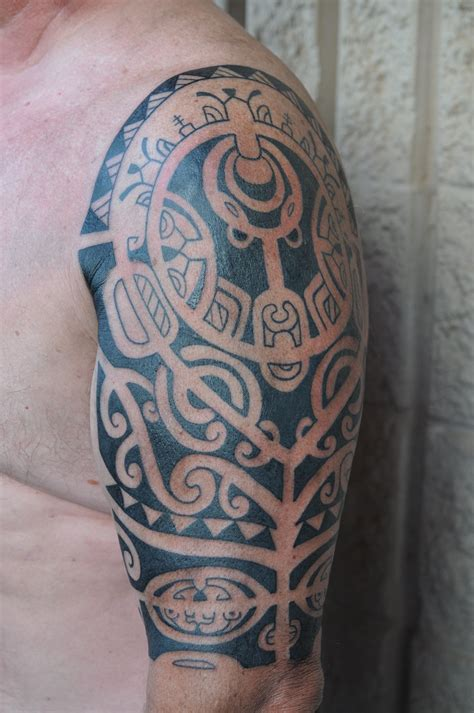 pacific tattoos designs marquesan half sleeve by dave rodriguez pacific