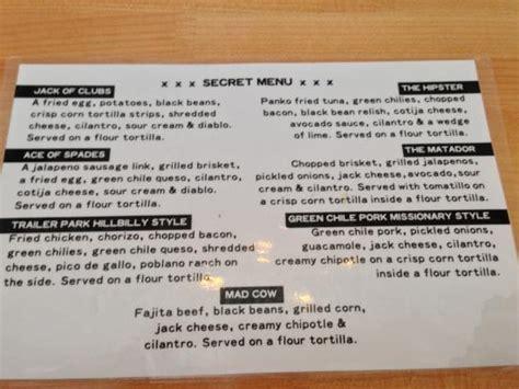 secret menu secret menu ask for it at the register picture of torchy