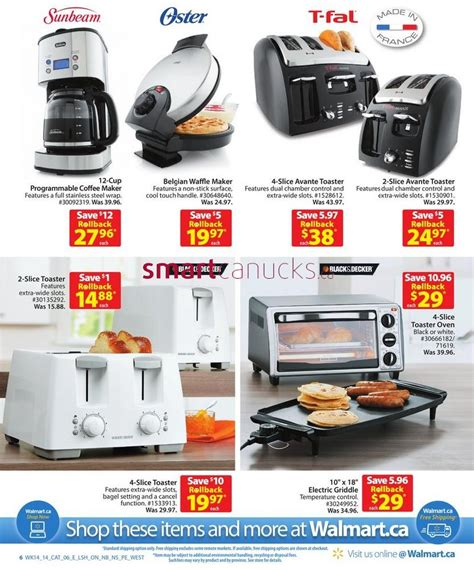 Walmart Kitchen Appliances | walmart canada kitchen appliance catalogue flyers friday