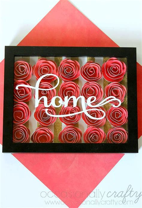 Home Decor Diy Projects paper flower shadow box wonderfuldiy com