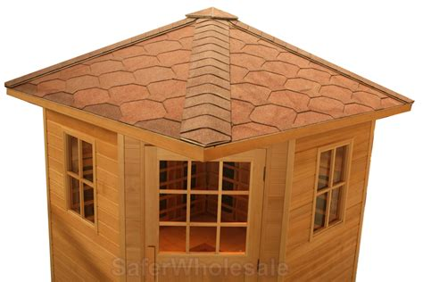 Backyard Infrared Sauna by Large 4 5 Person Outdoor Fir Far Infrared Sauna