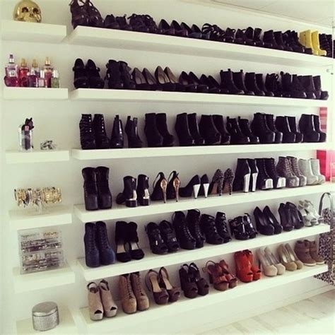 Shoe Rack For Closet Wall by Shoe Shelves Home Ideas