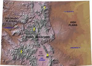 map of colorado mountain peaks es 331 767 southern rocky mountains