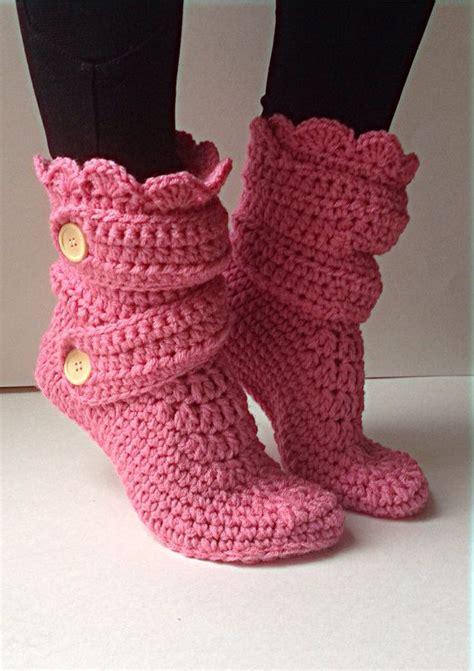 crochet pattern womens slippers women s crochet pink slipper boots crochet slippers