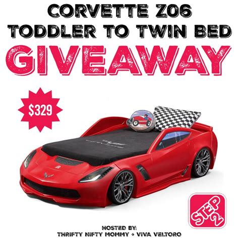 step 2 corvette bed step2 corvette z06 toddler to twin bed giveaway miss