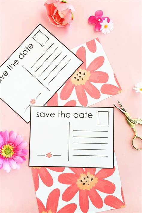 make your own save the date cards diy floral save the date postcardsmaritza