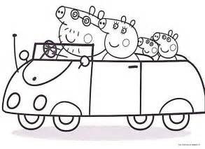 peppa pig tutta la famiglia auto direzione bimbimegastore disegni da colorare