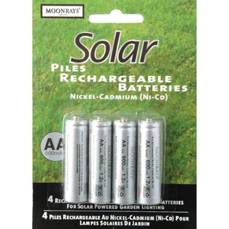 moonrays 97125 rechargeable nicd aa batteries for solar