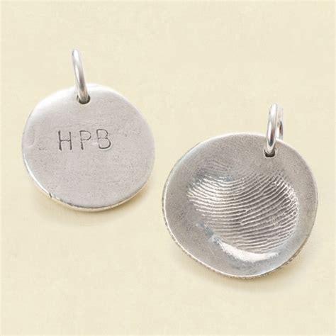 how to make fingerprint jewelry silver custom silver fingerprint pendant