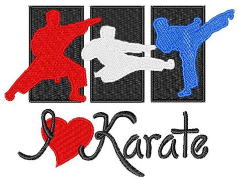embroidery design karate i love karate embroidery design gift ideas for the girls