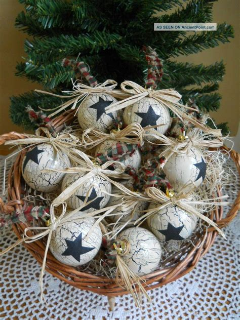 17 best photos of primitive christmas ornaments