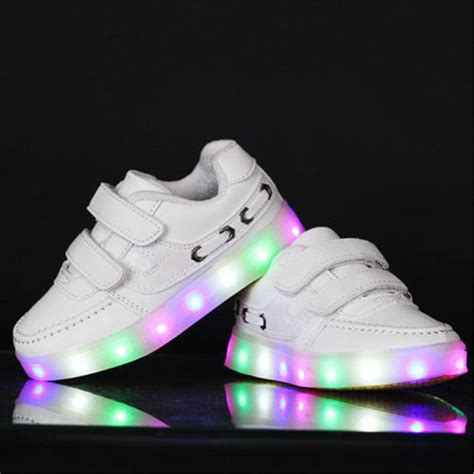 baby light up shoes children kid boys led light up colorful sports