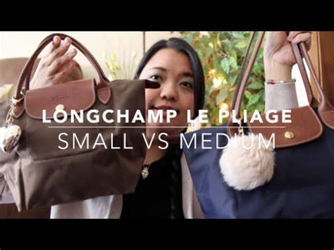 Hq 3653 Size S M L longch le pliage bag comparison small vs medium