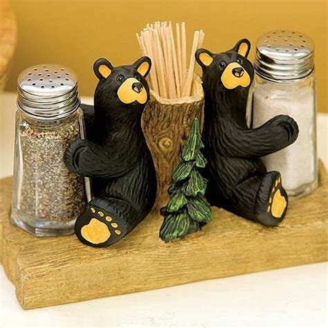 Bearfoots Bears Salt and Pepper Shaker with Toothpick