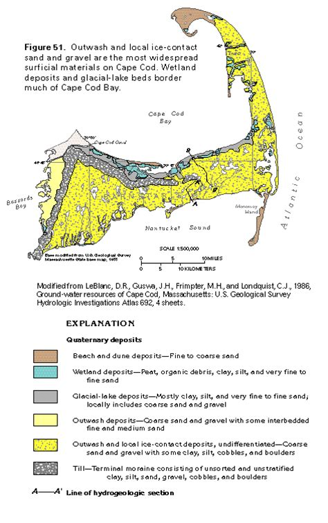 geology of cape cod ha 730 m surficial aquifer system cape cod glacial