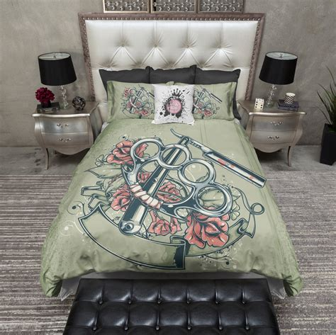 punk bedding knuckles and blade punk duvet bedding sets ink and rags