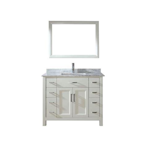 studio bathe 42 in vanity in white with marble