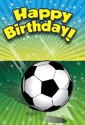 football birthday card template soccer birthday card