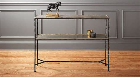 metal console table molten metal console table reviews cb2