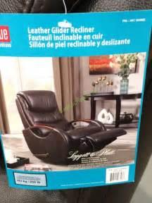 true innovations leather swivel glider recliner model cr