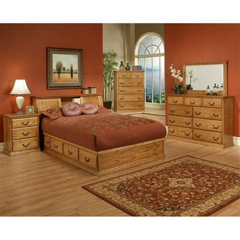 King Size Oak Bedroom Sets by Traditional Oak Platform Bedroom Suite Cal King Size