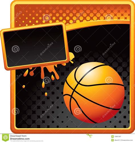Golden Grunge Basketball Template Stock Vector Image 10897287 Free Basketball Website Templates