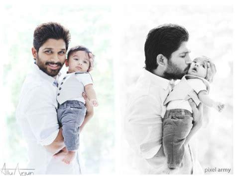 actor bharath son name allu arjun son ayaan photos released wife sneha reddy