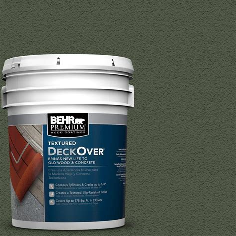 home depot paint for concrete behr premium textured deckover 5 gal sc 149 light lead