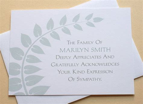 make your own funeral cards 25 best ideas about sympathy thank you notes on