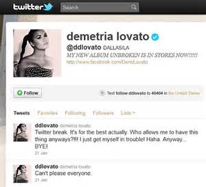 demi lovato quits twitter: 'i just get myself into trouble