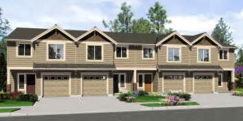 Row House Floor Plans Triplex House Plans 4 Plex Plans Quadplex Plans