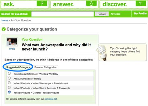 answers yahoo mobile answerpedia the yahoo product that never launched