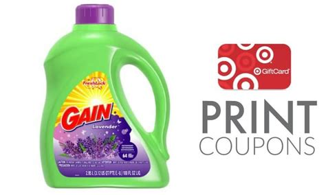 gain detergent coupons printable gain detergent coupons target gift card deal