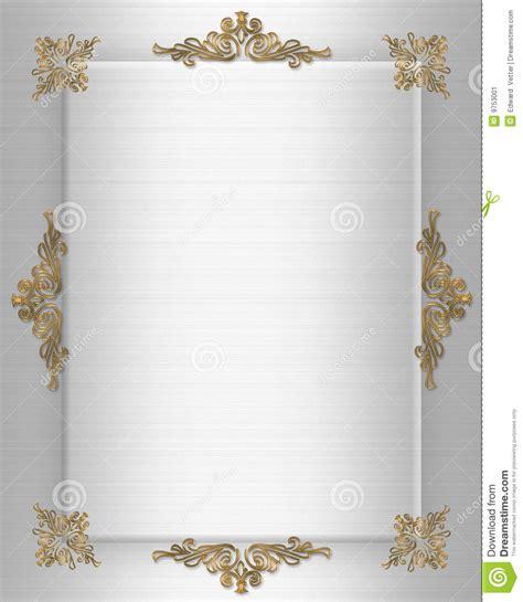 Wedding invitation Border stock illustration. Image of