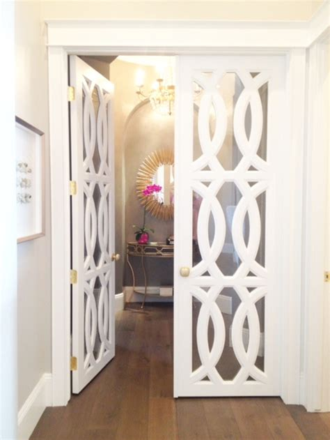 Pantry With Glass Doors by Diy Interior Door Hacks Landeelu Com