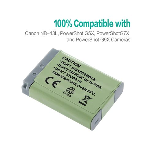 Battery Baterai Canon Nb 13l For Canon G7 X nb 13l nb13l replacement battery charger for canon powershot g5x g7x g7 x g9x ebay