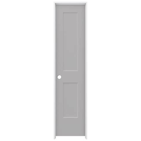 20 Interior Door Jeld Wen 20 In X 80 In Driftwood Painted Right Smooth Solid Molded Composite