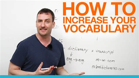 learn how to your how to increase your vocabulary