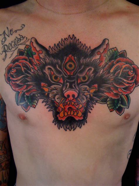 tattoo chest wolf wolf tattoo chest ideas yo tattoo
