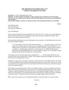 Data Request Letter Exle Formal Letter Template Requesting Information