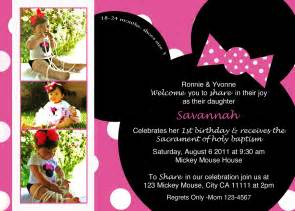 Free Minnie Mouse 1st Birthday Invitations Templates by Minnie Mouse Birthday Invitations Template Best Template