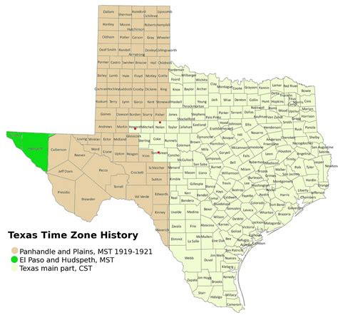 time zone map texas file texas timezones jpg