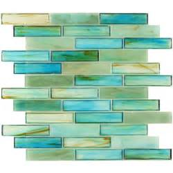 green glass backsplash hirsch 1 x 4 green glass brick tile glossy ln0012