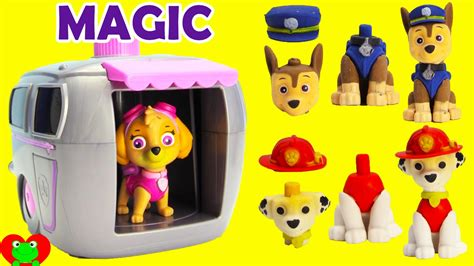 paw patrol house paw patrol skye magical pup house house with shopkins surprises and more youtube