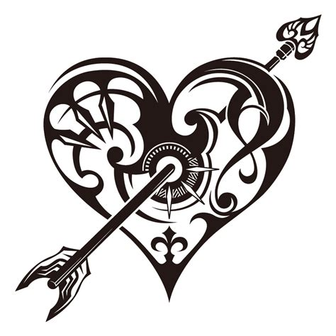 flower heart tattoos cliparts co