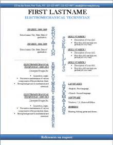 free cv templates 247 to 253 free cv template dot org