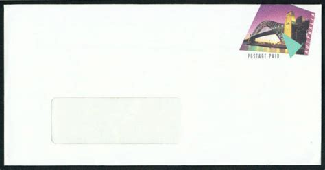 which side of the envelope does the st go on the sydney harbour bridge on sts postal stationery and