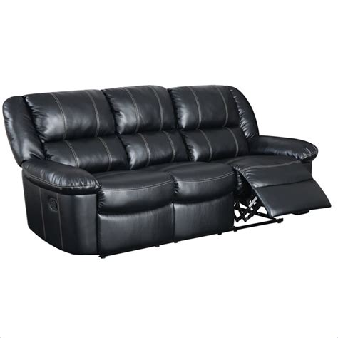 Black Leather Reclining Sofa Qty