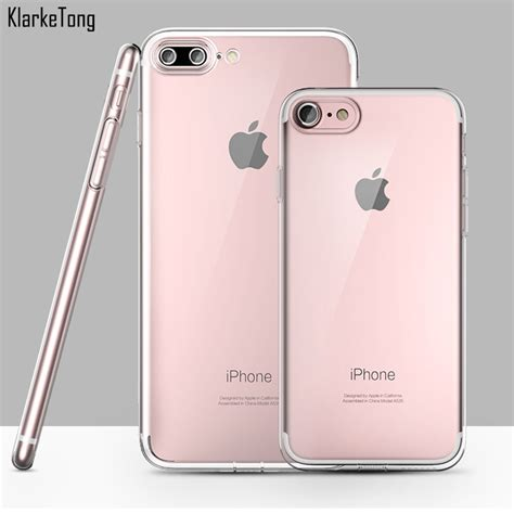 Casing Iphone 7 Plus Soft Silicon Ultrathin Transparant Cover aliexpress buy high quality ultrathin slim clear tpu silicone cover for iphone 7 soft
